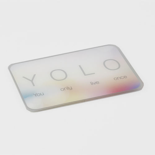 "HELD4YOU - Klebematte im Design ""YOLO"""