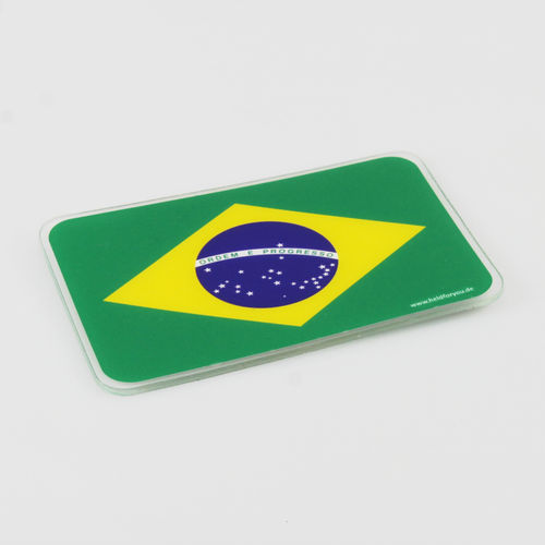 "HELD4YOU - Klebematte im Design ""Flagge Brasilien"""