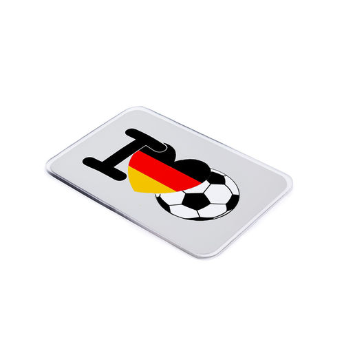 "HELD4YOU-Klebematte im Design ""I love Fußball"""